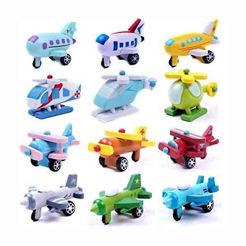 Ocamo Wooden Mini Aircraft,12pcs...