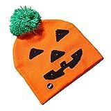 Rowentauk Creative Beanie Hat Kids Girls Boys Halloween incandescente Berretto a Maglia per la Decorazione Party