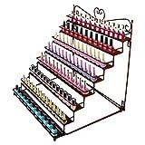 DAZONE Montado 8niveles blanco estante de metal estante de pared de uñas