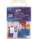 TSI Pins, Pack of 20, Multi-Coloured