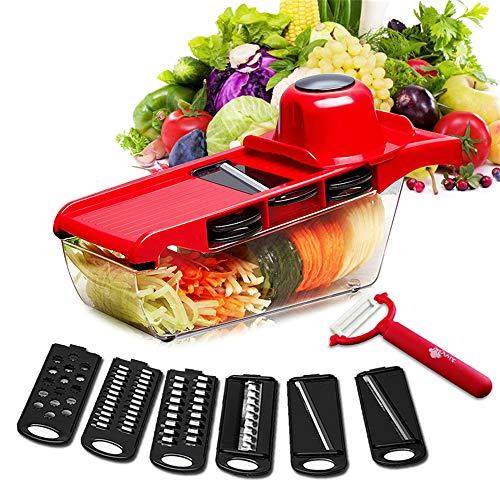 LIDAUTO Gemüse Cutter Mandoline Kartoffelschäler Karottenschneider Küche Zubehör mit Stahlklinge