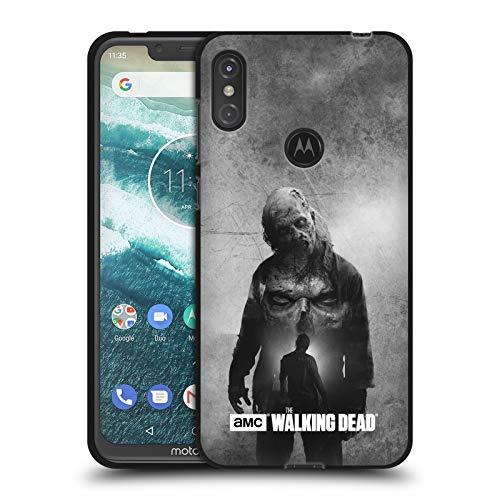 Head Case Designs Offizielle AMC The Walking Dead Walker Doppelte Aussetzung Schwarze Soft Gel Huelle kompatibel mit Motorola One Power (P30 Note) -