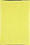 """Green Decore """"Arabian Nights"""" Wendbarer Öko-Teppich aus recyceltem Kunststoff (Plastik) für Innen und Außen/Federleicht, 90 x 150 cm, Gelb/Weiß"""