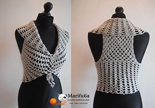 crochet easy vest bolero shrug by marifu6a: crochet easy vest bolero ...