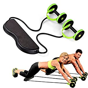 YTBLF Home Fitnessgeräte Muscle Sportgeräte Doppelrad Abdominal Power Rad Ab Rad Fitness Rad Trainer Ausbildung