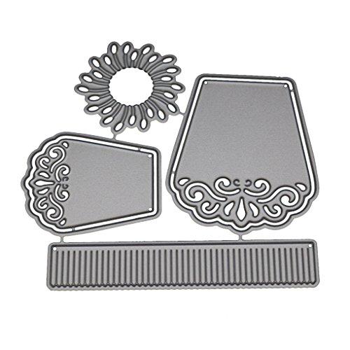 Providethebest Blumen-Metallschneideisen-Schablonen-Rahmen für DIY Scrapbooking Fotoalbum Dekorative Prägung Papierkarten12*10cm