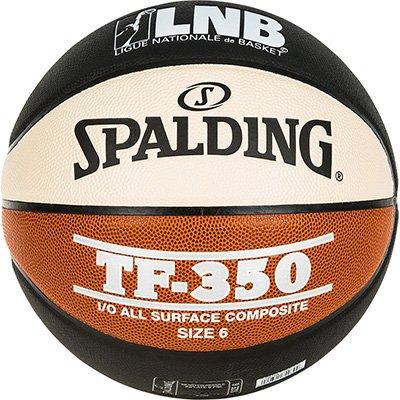 Spalding LNB TF350-Basketball Unisex, Uni, Lnb TF350, Noir/Orange/Blanc, Größe 6