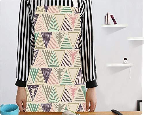 YLYZL Schürze Bedrucktes Muster Sleeveless Back Tie Leinen Schürze, C -