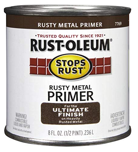 Rustoleum .50 Pint Rusty Metal Primer Protective Enamel Oil Base Paint 7769 730