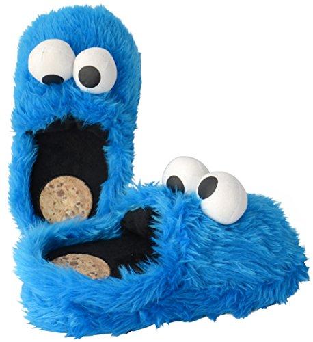 Sesame Street Cookie Monster Chaussons bleu roi Bleu
