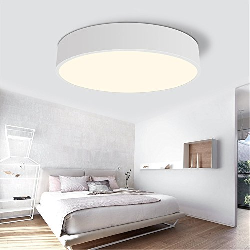 ANGEELEE Die im nordischen Stil lounge Licht kreative Schwarz und Weiß Flat Panel Licht minimalistischen Schlafzimmer Lampen LED Deckenleuchte Kreisförmige Lampen 60 cm Flat Panel-schwarz
