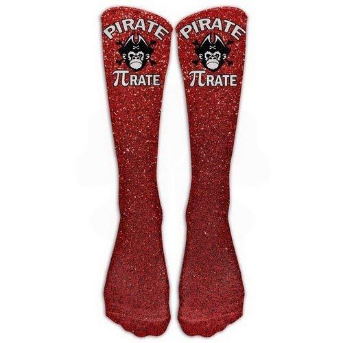 Warm Winter Knee High Socks Pirate Pi-rate Chimpanzee Skull Great Quality Men 1 Pair Long Tube Stockings for Running Jogging ()