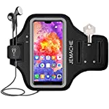 Huawei Mate 20 Pro, P30 Pro, P20 Pro Armband, JEMACHE Gym Sport Laufen Workouts/Fitness Handytasche Armbänder für Huawei P Smart 2019, P30 Pro, P20 Pro, Mate 10/20 Pro, Honor View 20