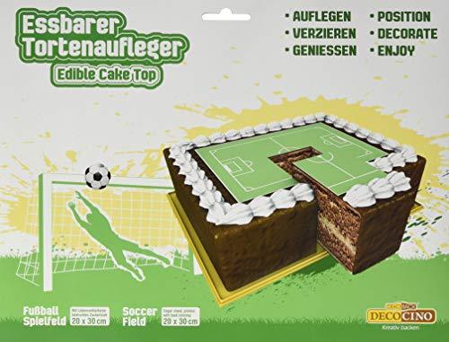 Dekoback Tortenaufleger Fußballfeld, 20 g Karton