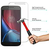 Febelo (TM) Branded Perfect Fitting Ultra Thin 2.5D HD Crystal Clear Curve Edge Bubble Free Tempered Glass Screen Protector For Moto G Plus 4th Generation