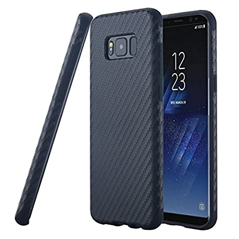 Coque Galaxy S8 Plus,Galaxy S8 Plus Case, Snewill [Skin Touch Series] Slim Thin Flexible TPU Case Shock Absorbing Extra Grip Rubber Bumper Cover Case for Samsung Galaxy S8 Plus - Black