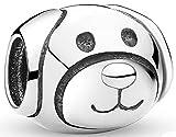 SaySure 925 Sterling Silver Devoted Dog Charm