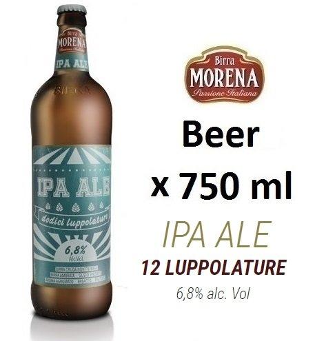 Birra Morena IPA ALE 6,8 % alc vol - CL 75 - Artigianale - Craft Beer - Italian Beer - Award - Best Gift Events Christmas Easter