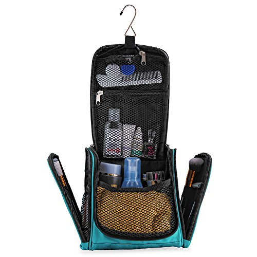 Small premium toiletry bag with lots of space compact travel kit with hook for men woman - Small space dehumidifier bags set ...