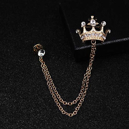 TXJZWR Spilla Spilla placcata in Oro Piccola Corona Spilla Colletto Camicia Spilla Bottone Spilla Distintivo Distintivo Distintivo...