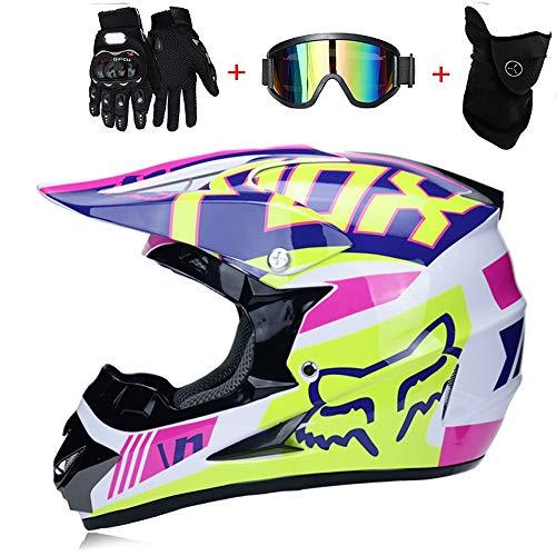 TKGH Casco de Motocross, TK-08 Adult Off Road Helmet Enduro Sport Adventure...