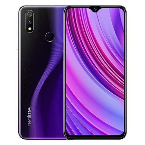 realme 3 Pro Smartphone 4GB RAM 64GB ROM Snapdragon 710 AIE del teléfono móvil 4045mAh batería de la batería del teléfono móvil Carga rápida VOOC versión Global (Púrpura)