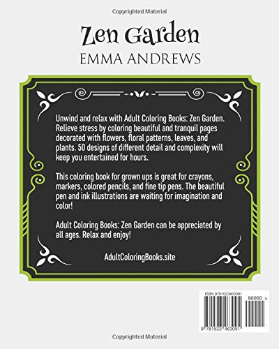 Adult Coloring Books: Zen Garden