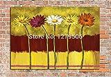 GUOYHDM Handgemaltes Blumenwandkunst-Segeltuch-Ölgemälde-Modernes Blumen-Ölgemälde-Wandgemälde Auf Segeltuch-Kunst Für Wohnzimmerschlafzimmer 36X48