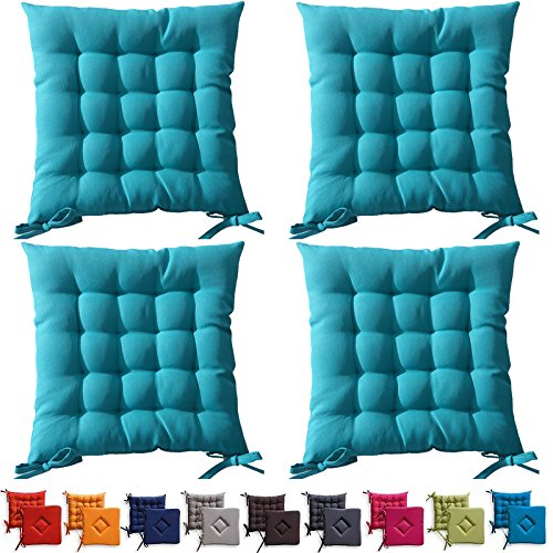 Set di 4 cuscini da sedia trapuntati cuscini da esterno for Cuscini amazon