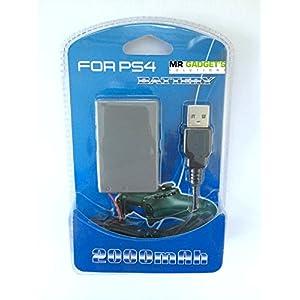 2.000mAh Wiederaufladbarer Ersatz-Akku-Pack für Playstation 4-/PS4-Controller