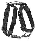 PetSafe 3 in 1 Hundegeschirr M schwarz, Autosicherheitsgeschirr, kein Ziehen, Tragekomfort, Reflektoren, Geschirrgriff