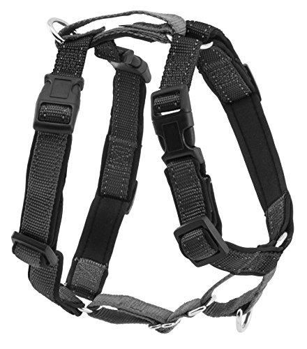 PetSafe 3 in 1 Hundegeschirr L schwarz, Autosicherheitsgeschirr, kein Ziehen, Tragekomfort, Reflektoren, Geschirrgriff