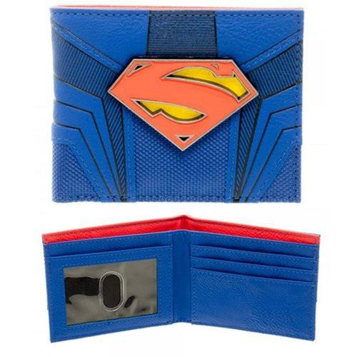 Superman métal portefeuille logo portefeuille 10,8x8,6x2cm DC Comics bleu rouge