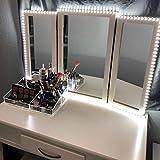 Lampada a LED per specchio, 13 pollici, dimmerabile, 240 LED, set di specchietti cosmetici, illuminazione, plug in illuminazione, strisce specchi non incluse