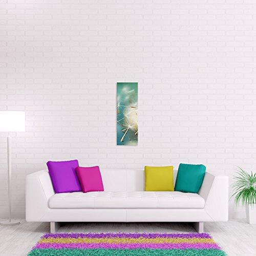 malango® - Leinwandbild - Pusteblume Leinwanddesign in Premium Qualität 1-Teiler Panorama im Hochformat spezielle Latex-Farbe auf Premium Leinwandstoff 30 x 90 cm