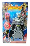 Kids Wrist Projection Watch with Batman Action Figure 4.5 Inch Height