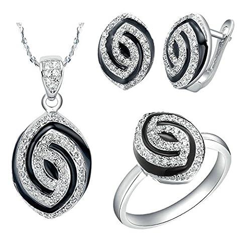AnaZoz Fashion Jewelry Simple Personality White Gold Plated Women Jewelry
