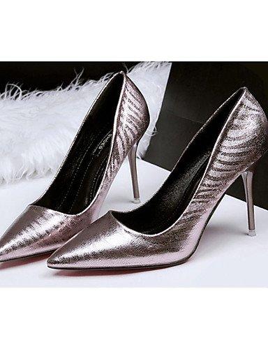WSS 2016 Chaussures Femme-Décontracté-Noir / Argent / Or / Taupe-Talon Aiguille-Talons-Talons-PU taupe-us6 / eu36 / uk4 / cn36