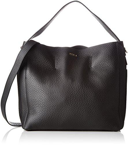 furla capriccio Furla Damen Capriccio Business Tasche, Schwarz (Onyx), 12x31x31 cm