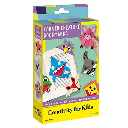 Kreativität für Kinder Ecke Creature Origami Lesezeichen