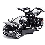 EisEyen Tesla Model X 90 1:32 Fahrzeug Legierung zurückziehen Spielzeugauto mit Sound & Light Toy Kids Türen öffnen