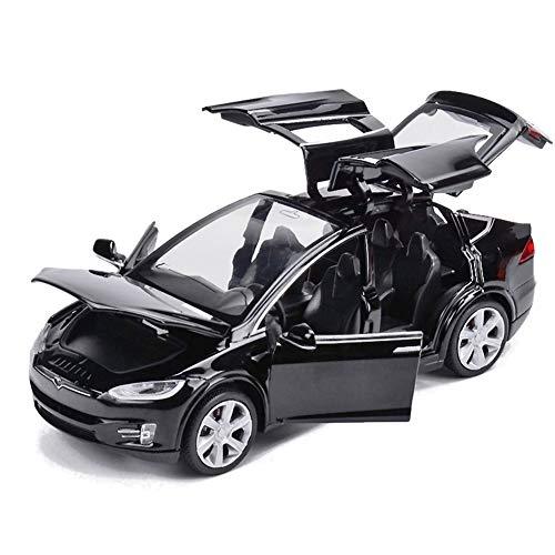 Comtervi - Modellino Auto Giocattolo in Lega con Effetti sonori e luci per Bambini, Scala 1:32, Nero, 15,5 * 5,5 * 4,5 cm