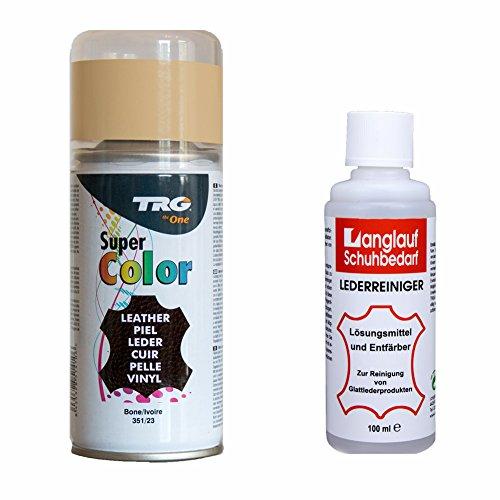TRG Lederfarbspray bone/elfenbein 150ml 351/23 + 100ml Langlauf Schuhbedarf Reiniger