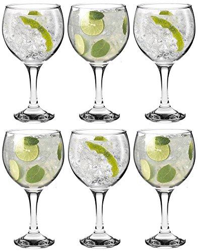 Españoles Gin Tonic cócteles gafas - 645ml (22,7 oz) Pack de 6 Globo