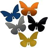 Reflektor Aufkleber Schmetterling, Reflexfolie Sticker, reflektierend (zitronengelb)
