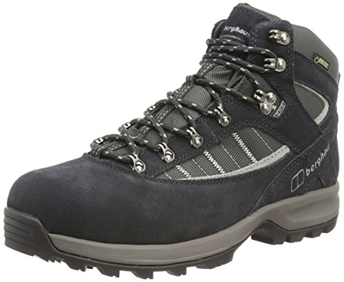 Berghaus Explorer Trek Plus GTX, Men's High Rise Hiking Shoes, Black/Grey, 10 UK (44 1/2 EU) Plus Gtx Boot