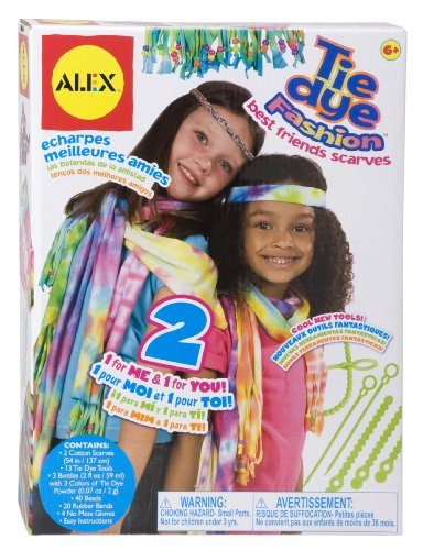 Alex Toys Yourself Wear Tie Dye Fashion Best Friends Schals