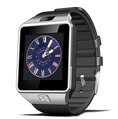 Montre Connectées avec camera,TKSTAR Smartwatch Bluetooth avec Écran tactile Smart Bracelet multifonction Bracelet connecté Montre Intelligent pour iphone Android Including Samsung Huawei Sony pour homme femme (argent)