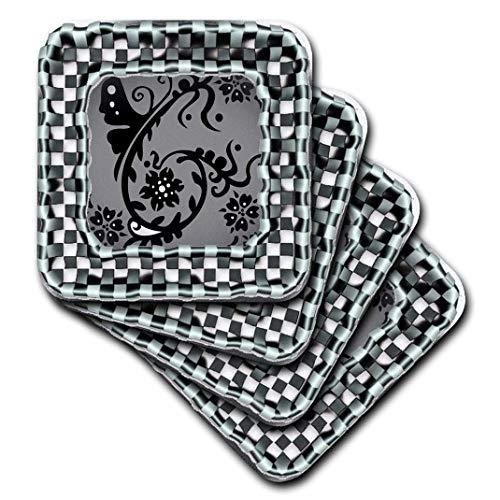 Spirituelle awakenings-patterns-karierten Bordüre, mit Tribal Vines-Untersetzer, keramik, set-of-4-Ceramic