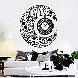 wukongsun Vinyl wandtattoos New Moon Symbol Uhr Traum Schlafzimmer innenwand Dekoration Aufkleber Wohnzimmer wandbild schwarz 42x47 cm